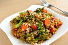 Ashley's Green Life: WIAW & Rainbow Veggie Stir-Fry Recipe