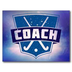 Field Hockey Coach Shield Post Cards, $1