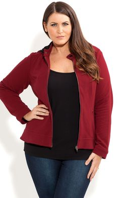 City Chic - SEXY CORSET HOODIE - Women's plus size fashion