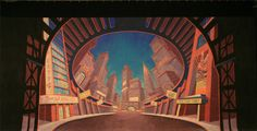 an interesting concept, but I don't love flat backdrops Tmnt Leo, Stage Set Design, Guys And Dolls, Backdrops, Concept, Painting, Costume, Flat, Google Search