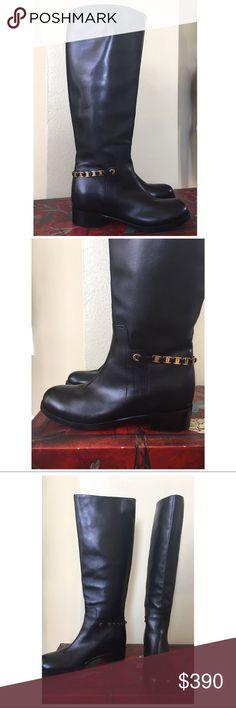 "Spotted while shopping on Poshmark: SALVATORE FERRAGAMO ""NANDO"" LEATHER KNEE BOOTS! #poshmark #fashion #shopping #style #Salvatore Ferragamo #Shoes"