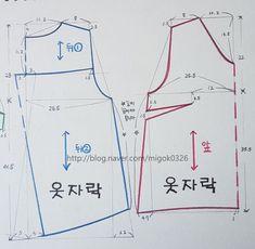 Pattern Sketch, Top Pattern, Dress Sewing Patterns, Clothing Patterns, Sewing Clothes, Diy Clothes, Pattern Drafting, School Fashion, Diy Design