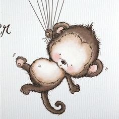 Baby Shower Guest Book Print Monkey - Say Anything Design