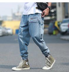 Men Fashion Streetwear Hip Hop Ribbon Pockets Joggers Pants – Agodeal Track Pants Mens, Cargo Pants Men, Black Jogger Pants, Blue Trousers, Sweatpants Style, Harajuku Fashion, Streetwear Fashion, Joggers, Street Wear