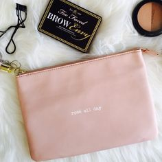 Rose Clutch {Rosé all day} with side tassel and one interior pocket. •NO TRADES• Olivia + Joy Bags Clutches & Wristlets