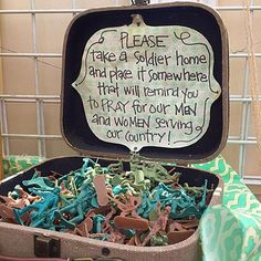Great idea for your next rummage/yard sale, flea market booth or party. Remember to support and pray for our men  women in the military (Army, Navy, Air Force, Marines, Coast Guard)