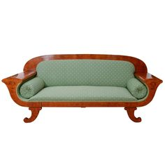 Mahogany, Golden Birch and Ash Adorned, Classic Biedermeier Settee   From a unique collection of antique and modern sofas at https://www.1stdibs.com/furniture/seating/sofas/