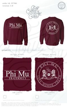 Phi Mu | Block Letters | Love Honor Truth | Sorority Crest | South by Sea | Sorority Shirts | Sorority Tanks | Greek Shirts | TShirt Ideas | Tee Shirt Ideas