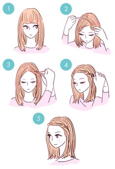 DIY tutorials on how to style your hair in 3 minutes. Quick and easy hairstyles. Techniques to style your hair and look elegant in no time. Cute Simple Hairstyles, Quick Hairstyles, Braided Hairstyles, Latest Hairstyles, Child Hairstyles, Updos Hairstyle, Everyday Hairstyles, Protective Hairstyles, Celebrity Hairstyles