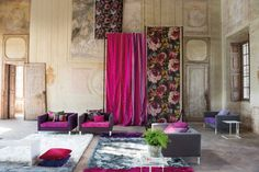 Madhuri Print collection AW14 : Curtains & drapes by Designers Guild