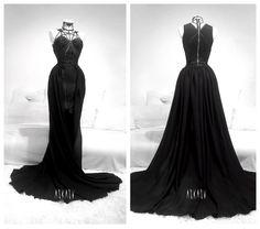 Onyx Rose Gown by Askasu