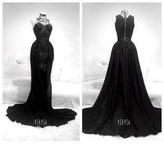 Onyx Rose Gown by Askasu