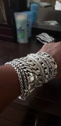 This stack is an oldie but goody. All these bracelets are at least 5 years old. John Hardy, a really rare piece.