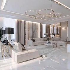 Modern Home Interior Design, Luxury Homes Interior, Home Room Design, Modern House Design, Interior Design Living Room, Living Room Designs, Interior Design Videos, Beautiful Interior Design, L Living Room Ideas