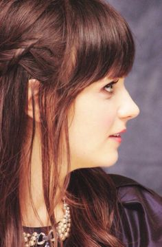 Image about zooey deschanel in red lips & rosy cheeks by ❥FAITH Zoey Deschanel, My Hairstyle, Hairstyles With Bangs, Hairstyle Ideas, Medium Hair Styles, Curly Hair Styles, Wind In My Hair, Dream Hair, Mi Long