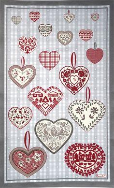 Beauville Montana #Hearts French Tea Towel