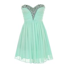 Iced Princess Dress ($80) ❤ liked on Polyvore featuring dresses, feather dress, sweetheart neckline chiffon dress, green chiffon dress, green sweetheart dress and sweet heart dress