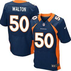 (Elite Nike Men s J.D. Walton Navy Blue Jersey) Denver Broncos Alternate   50 NFL Easy Returns. 7110d6999