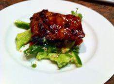 blackend pork belly with smashed cucumber salad - karen martini. yum