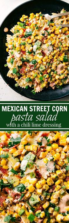 Nutritious Snack Tips For Equally Young Ones And Adults Mexican Street Corn Pasta Salad Recipe Via Chelsea's Messy Apron - A Delicious Mexican Street Corn Pasta Salad With Tons Of Veggies, Bacon, And A Simple Creamy Chili Lime Dressing. Barbecue Side Dishes, Barbecue Sides, Barbecue Recipes, Simple Side Dishes For Bbq, Easy Potluck Side Dishes, Sides For Bbq, Grilling Recipes, Corn Pasta Salad Recipe, Best Pasta Salad