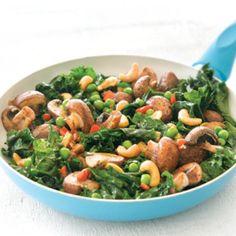 Kale, mushroom and cashew stir-fry   Australian Healthy Food Guide