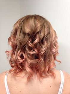 I don't think I'm brave enough to do this, but it sure looks pretty cool! Pastel rose gold balayage