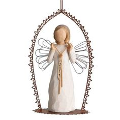 There are many great ornaments to decorate your home with for Christmas and one of the most popular is angel Christmas ornaments. Christmas Angels, Christmas Ornaments, Willow Tree Angels, Willow Tree Figurines, Angel Ornaments, I Fall In Love, Trellis, Decorative Bells, Decorating Your Home