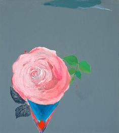 'Rose Flavoured Icecream' by Miranda Skoczek, 2013, Oil, enamel and acrylic on canvas, 153cm x 137cm.
