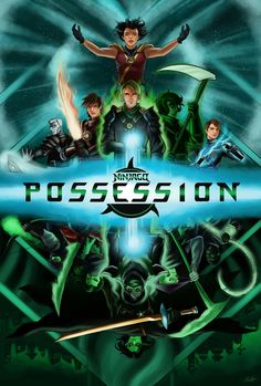 "Ninjago Season ""Possession"" poster by Lego Ninjago, Ninjago Kai, Ninjago Memes, Lloyd Ninjago, Legos, Desenhos Cartoon Network, Seasons Posters, Mustache Party, 5 Anime"