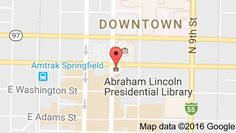 map of abraham lincoln presidential library springfield illinois usa