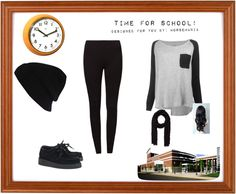 """""""What to wear to school. Part 6"""" by horsemania ❤ liked on Polyvore"""