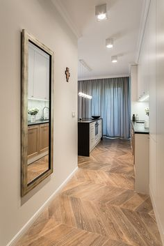 #hol #hall #kitchen #kuchnia #meble #furniture #tryc #jtryc #architekt #projektowanie #interiors #design Interior S, Oversized Mirror, Room, Furniture, Design, Home Decor, Google, Bedroom, Decoration Home