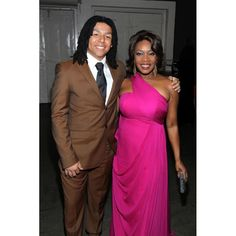 Alfre Woodard Fuchsia One Shoulder Designer Prom Dress 2012 NAACP Image Awards