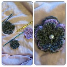 3 layer crochet flower