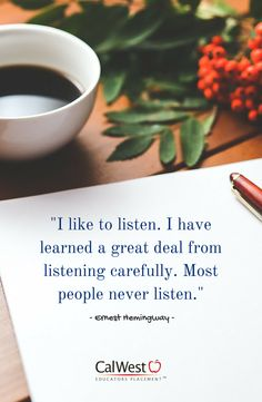 If you want to become a great #teacher, you must first become a great listener. #listen #equality