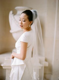 Photography: Caroline Yoon Fine Art Photography - www.carolineyoonphotography.com  Read More: http://www.stylemepretty.com/2014/04/03/romantic-fashionable-paris-elopement/