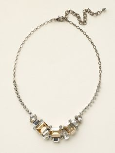 Emerald and Pear Cut Crystal Collar Necklace in Golden Shadow by Sorrelli - $180.00 (http://www.sorrelli.com/products/NCT13ASGNS)