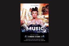 Live Music Show Flyer @creativework247