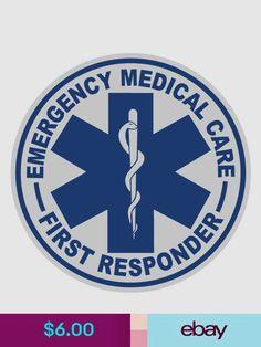 x Set of 2 EMT Star of Life First Responder Paramedic Vinyl Decal Sticker Firefighter Decals, Party Logo, Vinyl Decals, Medical, Stickers, Logos, Ebay, Garden, Cricut