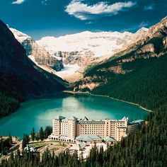 Fairmont Chateau Lake Louise, Alberta, Canada - Top 5 Accommodation Photos on Pinterest: http://www.ytravelblog.com/travel-pinspiration-top-5-accommodation-photos-on-pinterest/