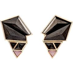 Nak Armstrong Gemstone Geometric Studs found on Polyvore featuring jewelry, earrings, colorless, 18 karat gold earrings, 18 karat gold stud earrings, peach earrings, gemstone jewelry and clear stud earrings
