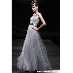 Designer Gray Grey Formal Evening Ball Gown Dresses for Women SKU-122067