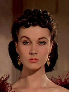 Vivien Leigh- one can only aspire to this level of bitch face.  I love it.
