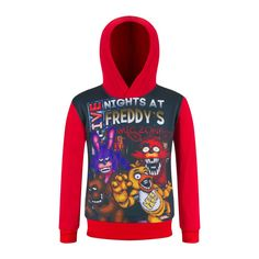 Kids Fnaf t-shirt Five Night At Freddy Tshirt Children Fireman Sam Dragon Ball Hoodie Hooded Sweatshirt