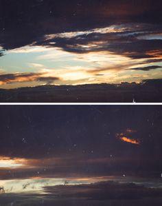 disposable camera sunset