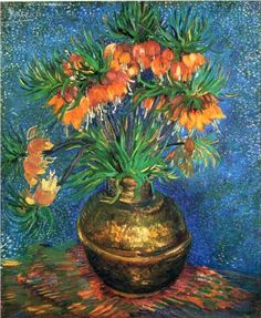 Fritillaries in a Copper Vase - Vincent van Gogh. Still can't believe I saw this in person!!!