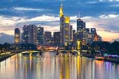 Frankfurt, Germany,   Been in the airports tons of times but never seen the city.