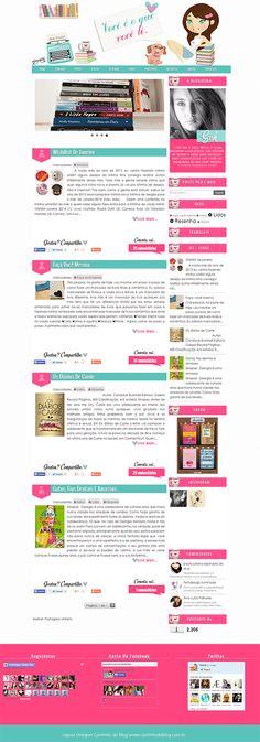 Personalização de Blog Literário - Cantinho do blog Layouts e Templates para Blogger