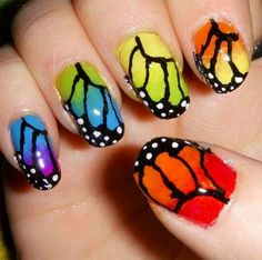 Butterfly nails ^-^