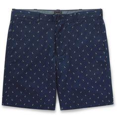"J.Crew 9"" Anchor-Print Cotton Shorts | MR PORTER"